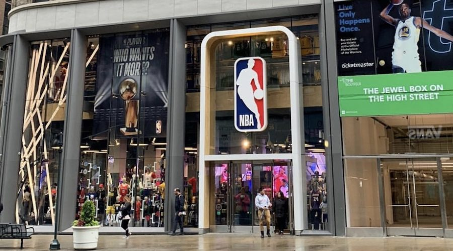 Exterior NBA Store Nueva York