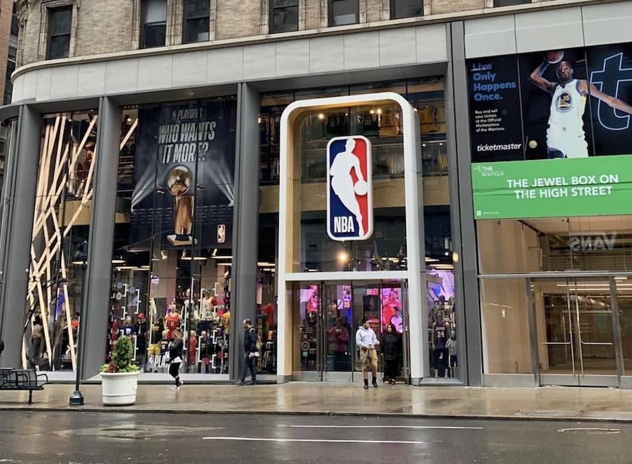 Exterior tienda NBA Store Nueva York
