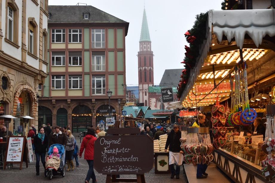 Calles de Frankfurt en Navidad