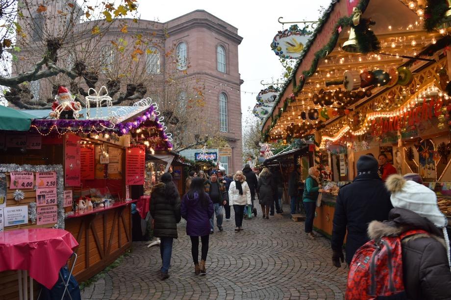 Calles de Mannheim en Navidad