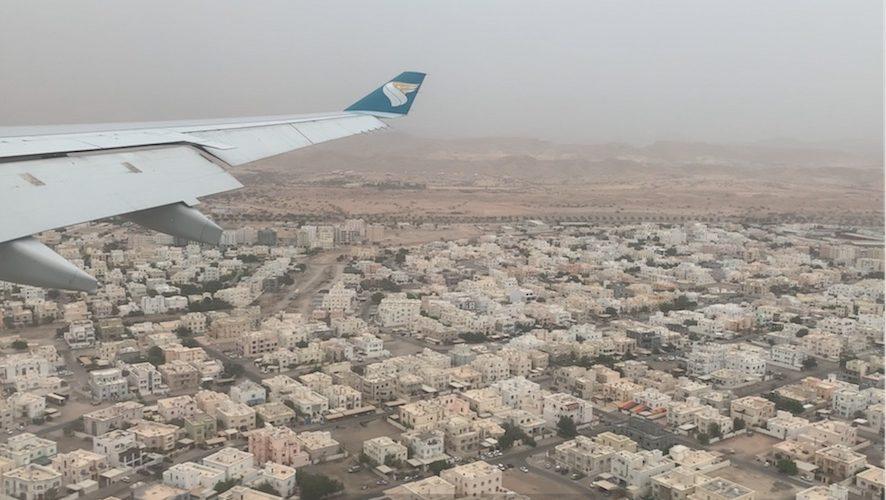 Muscat desde el avión