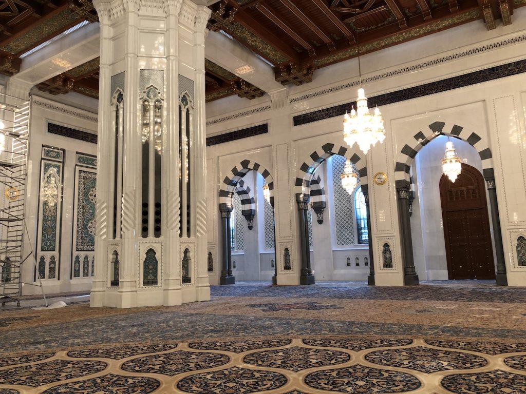 Interior mezquita Sultan Qaboos, Muscat