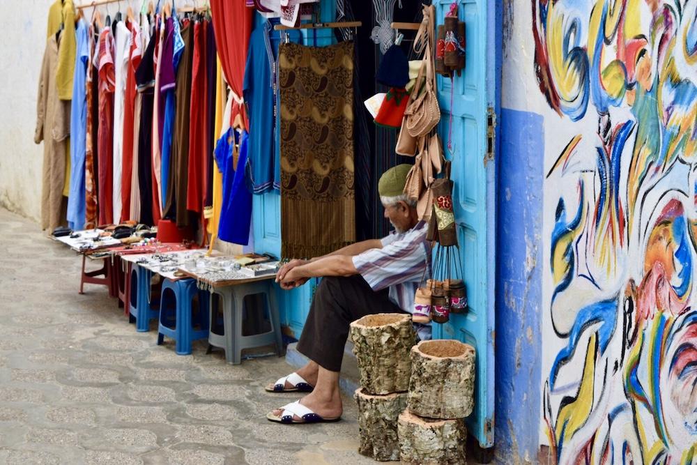 Norte de Marruecos, Asilah, tienda en medina
