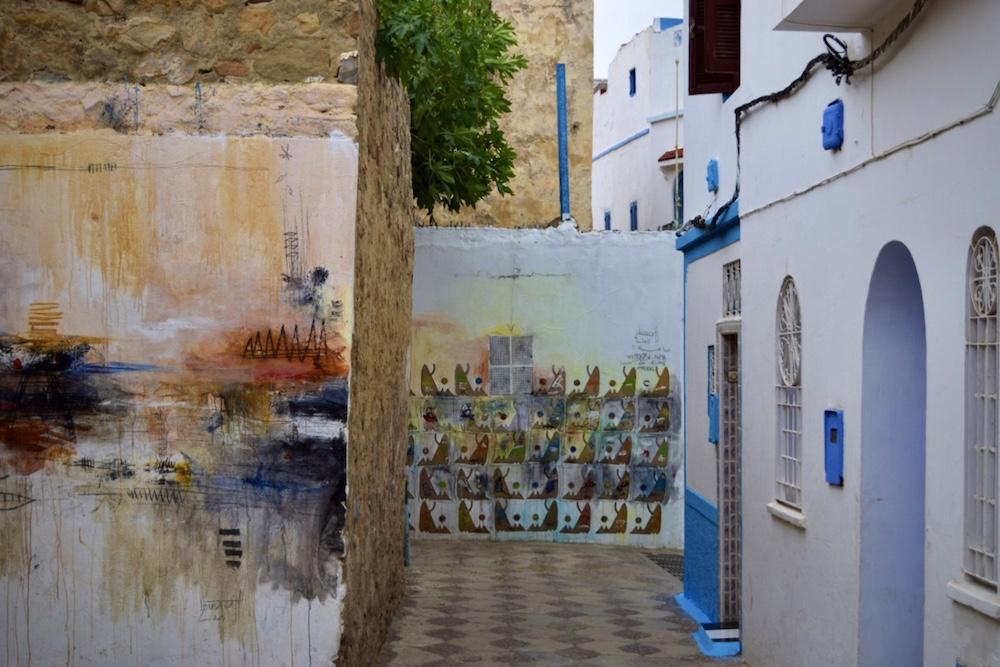 Norte de Marruecos, Asilah, murales en medina