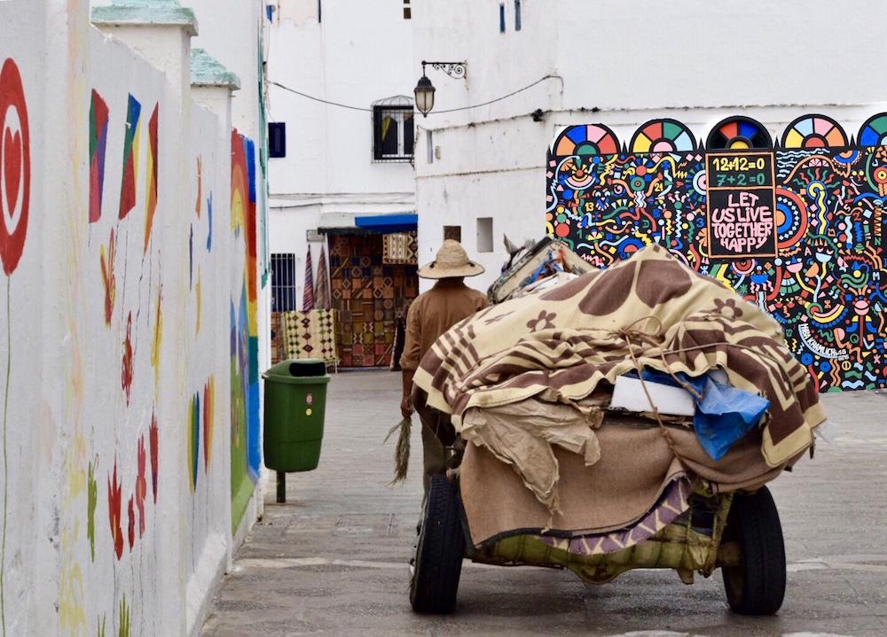 Norte de Marruecos, Asilah, calles medina
