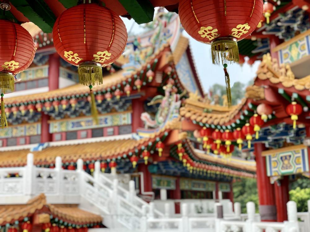 Farolillos Templo Thean Hou, Kuala Lumpur